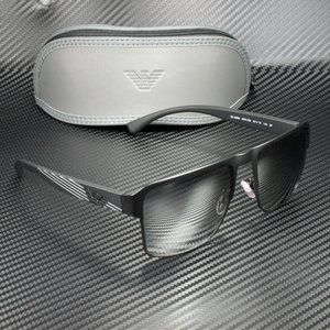 EMPORIO ARMANI EA2066 Black Polarized Grey Silver